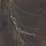 「遊糸」 45.4×15.8㎝ 日本画/麻紙に岩絵具